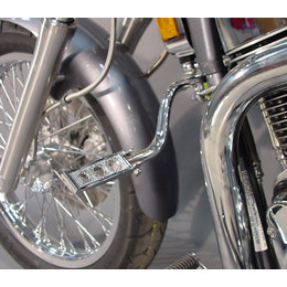 MC Enterprises Standard Hi-Way Bars W/Holey Ftpegs Chr Hon Shadow 750 Ace/Deluxe