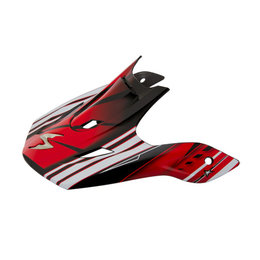 Scorpion VX-R70 Flux Replacement Visor Peak MX/Offroad Helmet Accessory Red