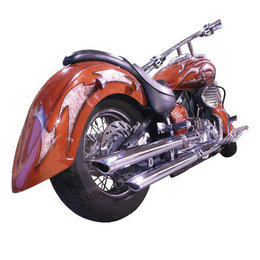 Chrome La Choppers Slip-on Exhausts For Yamaha Vstar 1100 99-09