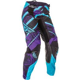 Fly Racing Womens Kinetic Race Pants Purple