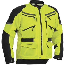 Day Glo Yellow, Black Firstgear Mens Adventure Mesh Jacket 2014 Day Glo Yellow Black