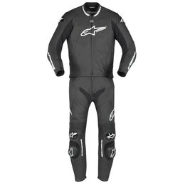 Black Alpinestars Gp Pro Two Piece Leather Suit 2010 Us 52