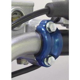 Works Connection Rotating Bar Clamp Blue For Honda Kawasaki Suzuki Yamaha