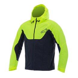 Black, Yellow Alpinestars Mens Tornado Air Hooded Textile Jacket 2015 Black Yellow