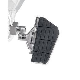 Show Chrome Straight Mount Cruiser Highway Floorboards LS Chrome Black 21-467 Unpainted