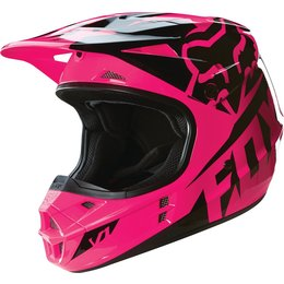 Fox Racing Youth Girls V1 Race DOT Helmet Pink