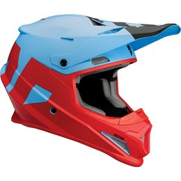 Thor Sector Level DOT Approved MX Motocross Riding Helmet With Visor Blue