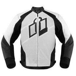 White Icon Mens Hypersport Leather Jacket 2014