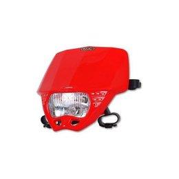 UFO Plastic Cruiser Headlight Red Universal