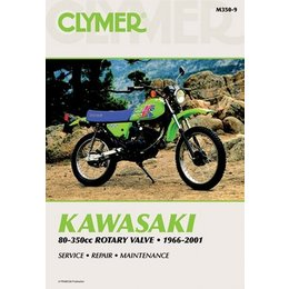 Clymer Repair Manual For Kawasaki 80-350 Rotary Valve 66-01