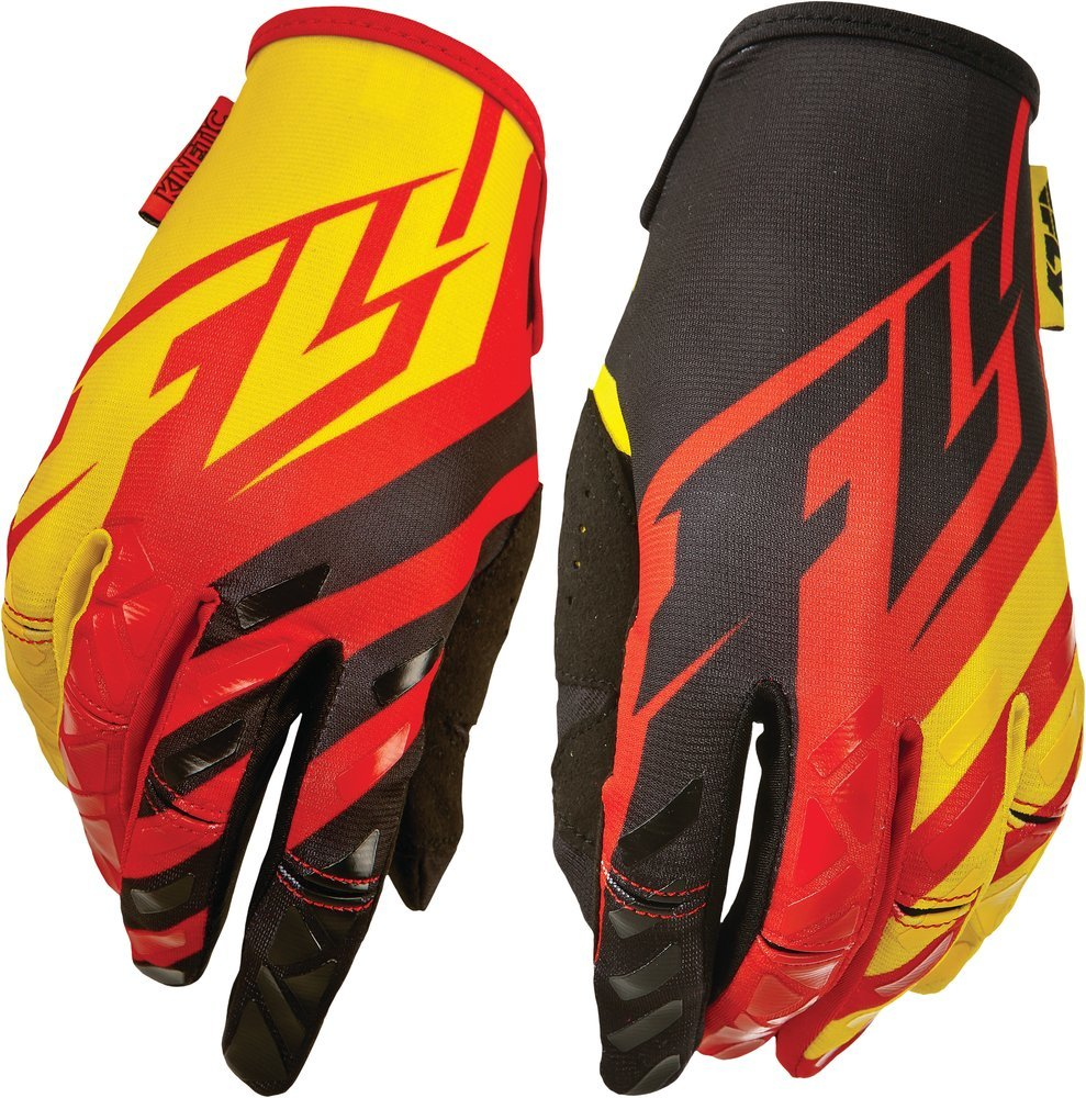 Mens yellow gloves -  Black Yellow Fly Racing Mens Kinetic Gloves 2015 Red Black Yellow