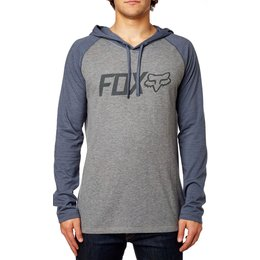 Fox Racing Mens Diskors Long Sleeve Knit Hoody Grey