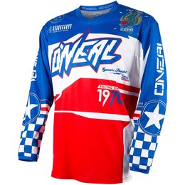 Oneal Mens Element Afterburner Jersey Blue, Red