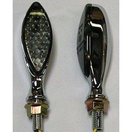Chrome Bodies, Smoke Lenses Dmp Led Marker Lights Long Oval Chrome Smoke