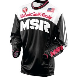 MSR Mens Legend 71 Motocross MX Riding Jersey Black