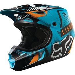 Fox Racing Youth V1 Vicious DOT Helmet Blue
