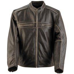 Black Brand Mens Two Lane Leather Jacket