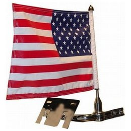 Stainless Steel Pro Pad Fixed Flag Mount 10 X 15 For Harley Davidson Flt