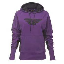 Fly Racing Womens Laced Pullover Hoody Purple