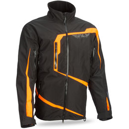Fly Racing Mens Carbon Waterproof Snow Jacket With Detachable Hood Black