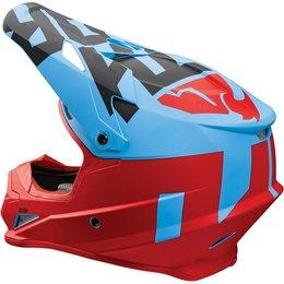 Thor Sector Level DOT Approved MX Motocross Riding Helmet With Visor Blue