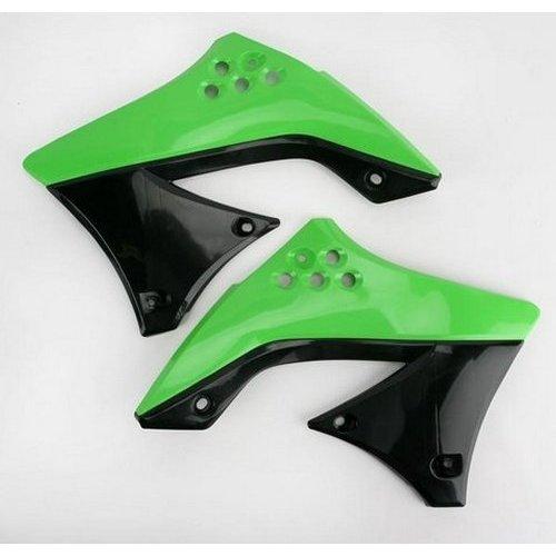 Kawasaki KX250F BLACK//GREEN ACERBIS RADIATOR SHROUDS Fits