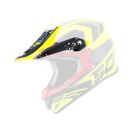 Scorpion VX-R70 Quartz Neon Replacement Visor Peak MX/Offroad Helmet Accessory Black