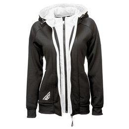 Fly Racing Womens Track Zip Up Hoody Black