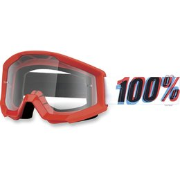 Red, White 100% Strata 3d Goggles With Clear Lens 2014 Red White