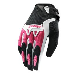 Black, Pink Thor Womens Spectrum Gloves 2015 Black Pink