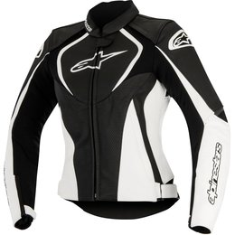 Alpinestars Womens Stella Jaws Armored Perforated Leather Riding Jacket Black
