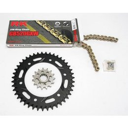 RK Chain/Sprocket Kit GB 520 GXW For Honda CBR929/54 Black
