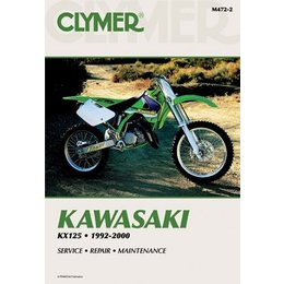 Clymer Repair Manual For Kawasaki KX125 KX-125 92-00