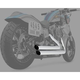 Python Staggered 2:2 Dual Exhaust System Chrome For Harley-Davidson FLST FXS/T