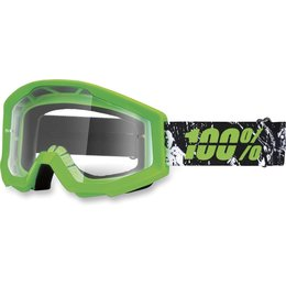 Green, Black 100% Strata Crafty Lime Goggles With Clear Lens 2014 Green Black