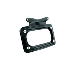 Kuryakyn Curved License Plate Frame Gloss Black For Harley-Davidson FLHX FLTR Black