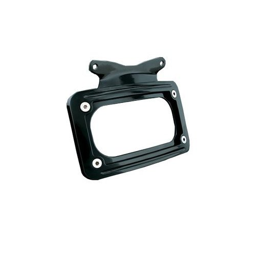 Kuryakyn Curved License Plate Frame Gloss Black For Harley-Davidson FLHX  FLTR