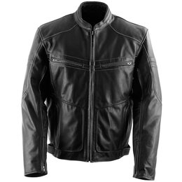Black Brand Mens Cutthroat Leather Jacket Black
