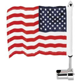 Stainless Steel Pro Pad Round 5 8 Sissy Bar Flag Mount With 6 X 9 Flag For Harley