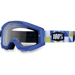 Blue 100% Strata Frisbee Goggles With Clear Lens 2013