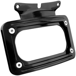 Kuryakyn Curved License Plate Frame Gloss Black For Harley FLD FLHR/X FLTR Black