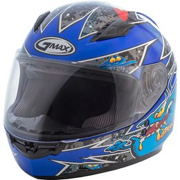 GMAX Youth GM49 GM-49 Alien Full Face Helmet Black