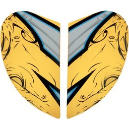 Yellow Icon Replacement Side Plate Kit For Airmada Sportbike Sb1 Full Helmet