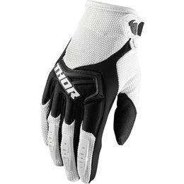 Thor Youth Boys Spectrum MX Gloves White