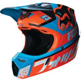 Fox Racing Youth V3 Divizion MIPS DOT Helmet Blue