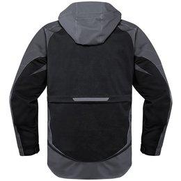 Icon Mens Raiden UX Armored Waterproof Textile Jacket Black
