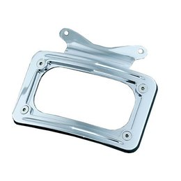 Kuryakyn Curved License Plate Frame For Harley-Davidson FLHX FLTR Unpainted