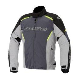 Black, Grey Alpinestars Mens Gunner Waterproof Textile Jacket 2015 Black Grey