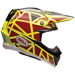 Bell Powersports Moto-9 Carbon Flex Strapped Helmet Yellow
