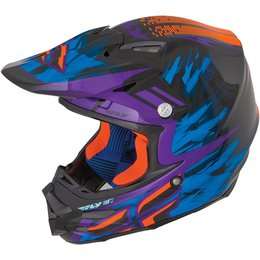 Black, Purple, Orange Fly Racing F2 Carbon Andrew Short Replica Helmet Black Purple Orange